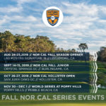 2019 FCG Nor Cal Fall Series Schedule Announced